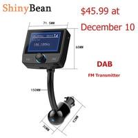 ShinyBean DAB FM Transmitter Bluetooth HD LCD Display Wireless FM Modulator For Cars FM Radio Car