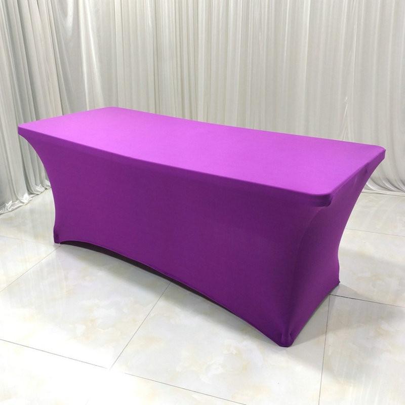 Rectangular Tablecloth Spandex Lycra Stretch Bar Tablecloth for Wedding Party Hotel Home Decor