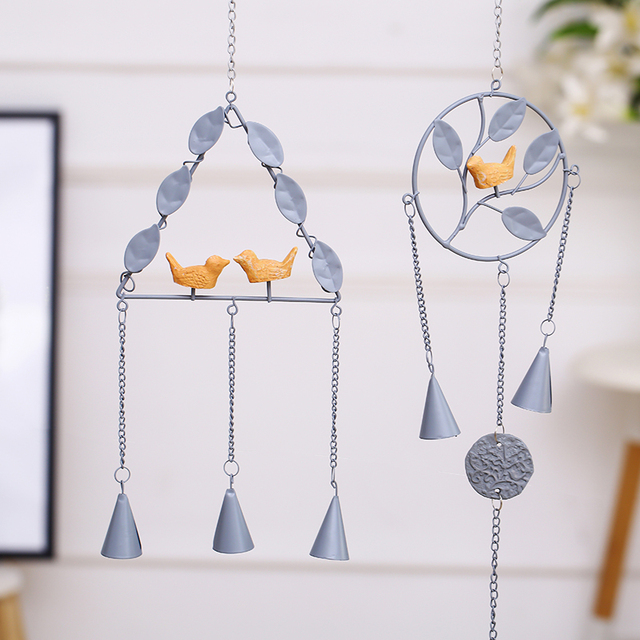 Japanese Metal Wind Chimes Birds Bell Iron Hanging Decorations
