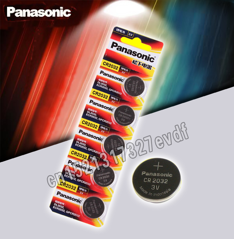 Panasonic Original 5pcs/lot Cr 2032 Button Cell Batteries 3V Coin Lithium Battery For Watch Remote Control Calculator Cr2032