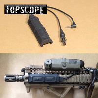 Tactical Durable Night Evolution Two Plug Dual Remote Pressure Pad Switch for XM PEQ Flashlight Accessories Black