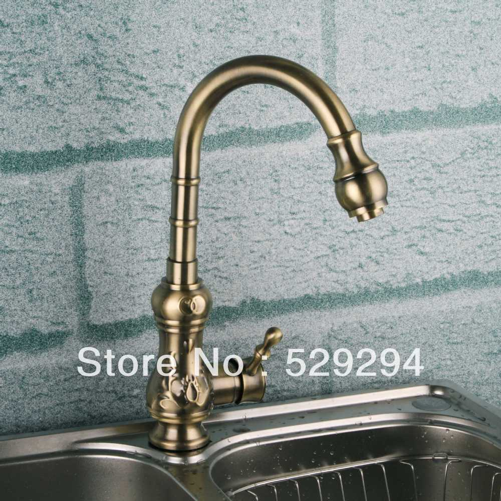 compare prices on long neck faucet online shopping buy low price kitchen faucet bronze brass chrome sink mixer bar water tap gourd shaped long