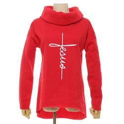 2018 New Fashion Faith Print Kawaii Tops Sweatshirt Femmes Hoodies Women Clothings Print Youth Pattern Buckle Autumn 5
