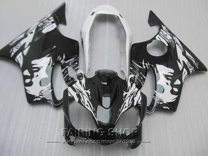 Best Fairings for Honda CBR 600F4i 2004 2005 2006 2007 ( scrawl white&black ) Injection Fairing kit Cbr 600 f4i 04 05 06 07 ll09 for honda cbr1000rr 2004 2005 2006 2007 silicone radiator coolant hose kit colors red blue black