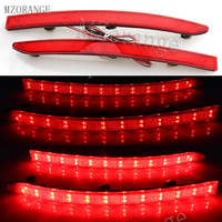 MZORANGE Bright Red LED Rear Reflectors Light Car Tail Fog Lamp Brake Stop Night Running Lights