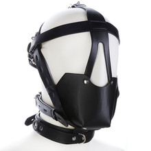 PU Leather Harness BDSM Bondage Harness Gag Gay Mouth Mask With Ball