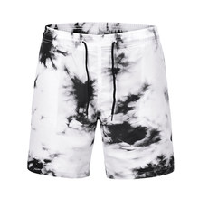 New Fast Dry Surfing Men's Board Shorts Ink Printing Patchwork Beach Swimming Short Sport Workout Shorts Male Running Pants(China)