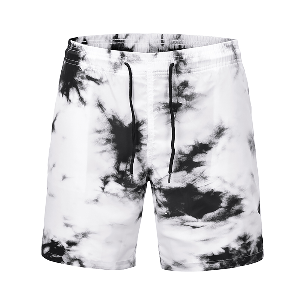 New Fast Dry Surfing Men's   Board     Shorts   Ink Printing Patchwork Beach Swimming   Short   Sport Workout   Shorts   Male Running Pants