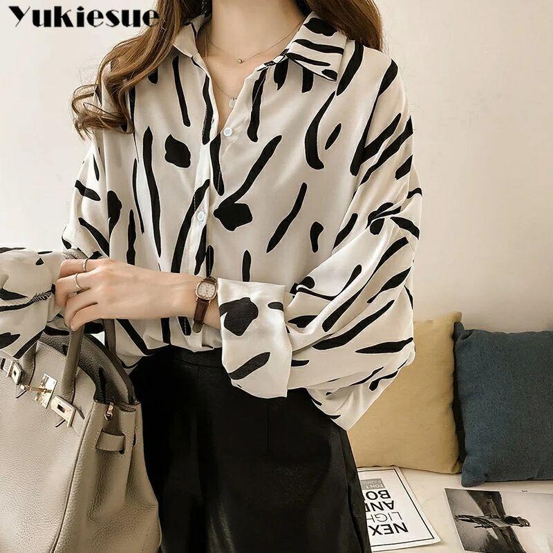 women's   blouse     shirt   korean fashion clothing women blusas womens tops and   blouses   printed loose blusa   shirts   Plus size batwing