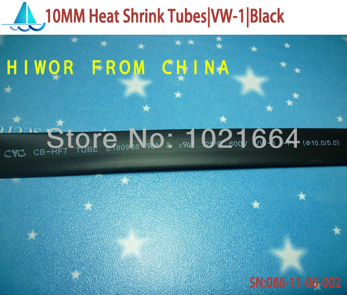 20meters/lot 10MM Heat Shrink Tubes Shrinkable Tubing Insulation Sleeving