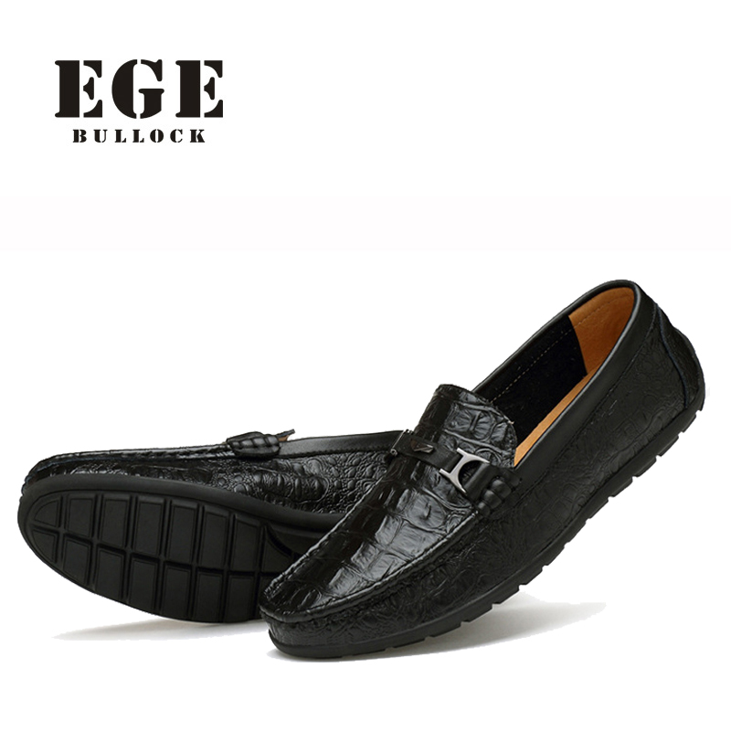 цены Men Loafer New Arrival Genuine Leather EGE Brand Casual Male Flats Slip-On High Quality Handmade Driving Shoes for Men