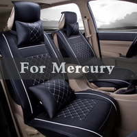 Set Fit Healthy Four Seasons Pu Leather Car Seats Covers Protector Case Stickers For Mercury Grand Montego Marquis Milan Mariner