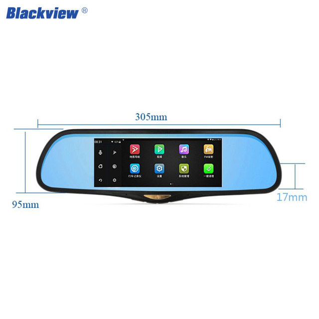 Blackview HS995 Hot Car Dvrs Android 4.4 wifi connect 7 Inches Touch screen GPS Navigation dual Lens Blue with rear view camera