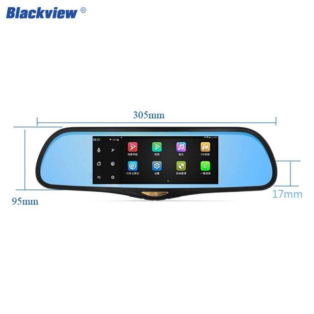 Blackview hs995 горячей CAR видеорегистраторы Android 4.4 WIFI соединение 7 дюйм(ов) сенсорный экран GPS навигации двойной линзы голубые с камера заднего вида