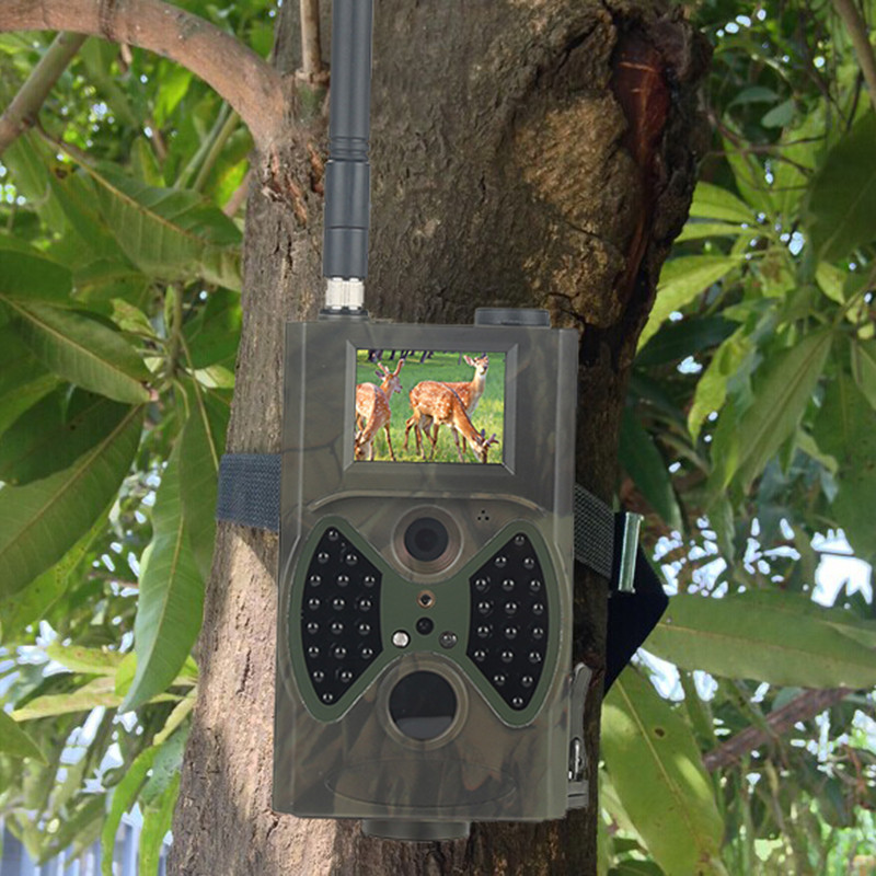 Phone sms controlled wireless GSM trail camera night vision wildlife camera HC-300M