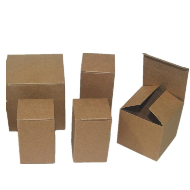 5pcs/lot 40 Sizes Small Paper Box Gift Box Packaging Party Favor Box Brown Kraft Cardboard Box Carton