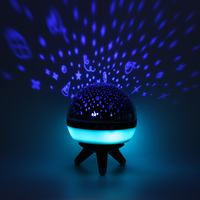 Creative Rotating Star Projector Lamp LED Night Lights Atmosphere Kids Led Star Light Portable Sky Lamp Bedroom Ball Light