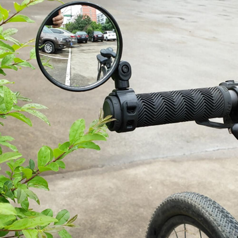 Bicycle Rearview Handlebar Mirrors Cycling Rear View MTB Bike Silicone Handle Rearview Mirror цена