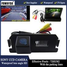 Fuwayda Водонепроницаемый Sony заднего вида Камера с 4.3 дюймов TFT ЖК-дисплей Мониторы для Hyundai бытие i30 ROHENS COUPE TIBURON kia Soul