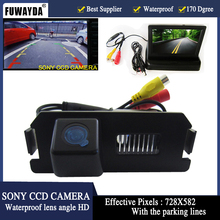 FUWAYDA Waterproof SONY Car Rear view Camera With 4.3 Inch TFT LCD Monitor For Hyundai Genesis I30 ROHENS COUPE Tiburon Kia Soul