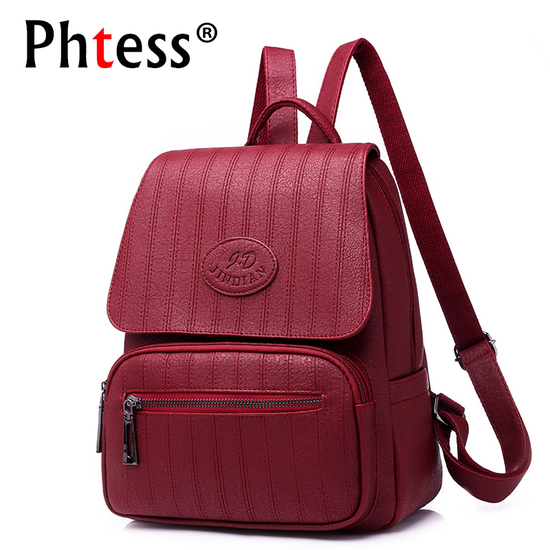 2019 Women Leather Backpacks High Quality Female Travel Bagpack Ladies Vintage Back Pack School Bags For Girls Mochilas Daypack2019 Women Leather Backpacks High Quality Female Travel Bagpack Ladies Vintage Back Pack School Bags For Girls Mochilas Daypack