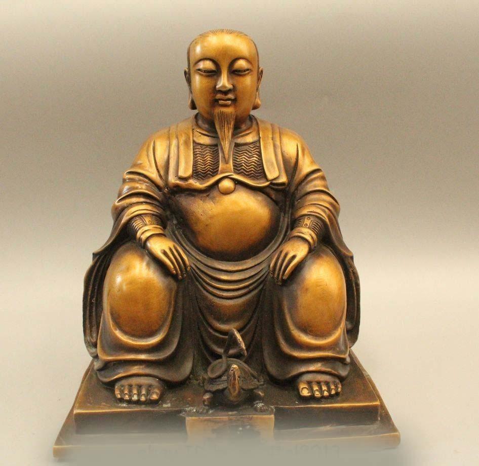 DS 10 Chinese Famous Brass Taoism Xuan Wu Da Di rycunhua God Great ancestor StatueDS 10 Chinese Famous Brass Taoism Xuan Wu Da Di rycunhua God Great ancestor Statue