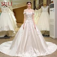 SL 82 Sweetheart Bling Bridal Gowns Designer Vestido De Noiva Lace Wedding Dress Turkey 2017