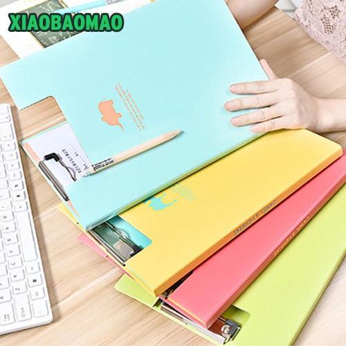 Quality South Korea Stationery Wholesale Creative Shadow Plate Clip Folder A4 Folder Animal Strap