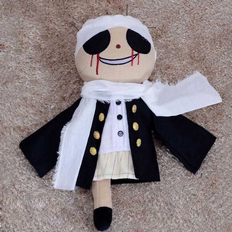 Japanese Anime Bungo Stray Dogs Kyuusaku Yumeno Cute Plush Doll Toy Cosplay Prop Handmade Halloween Christmas Gifts