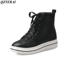 QZYERAI New arrival fashion new youth women ankle boots casual shoes women of shoes motorcycle boots