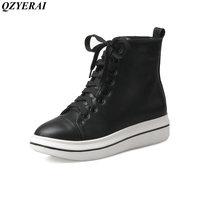 QZYERAI Nuovo modo di arrivo nuova giovinezza stivali caviglia donne scarpe casual donne di scarpe stivali da moto