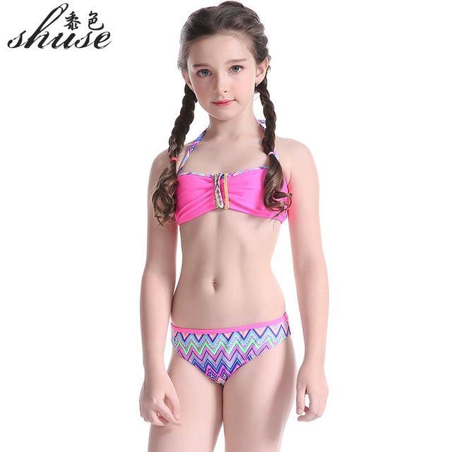 Super Grazioso Costume Da Bagno Nuovi Bambini di Estate Bikini Diviso in  EX15