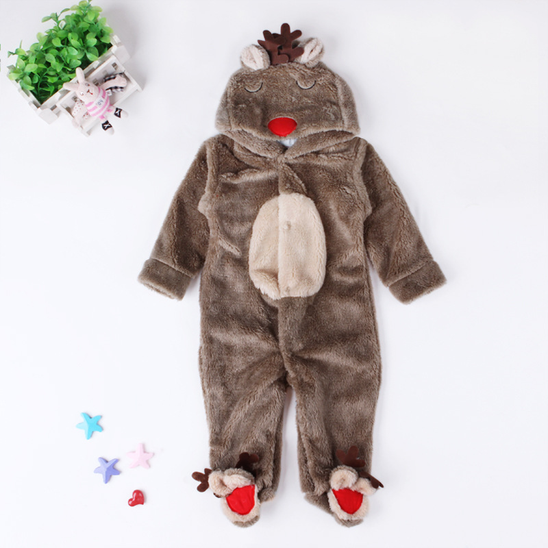 Winter 2018 Baby Boy Clothing Newborn Christmas Clothes Toddler Baby Halloween Infant Animal Costumes Moose Romper