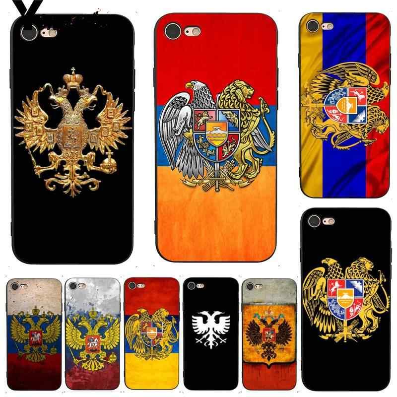 Yinuoda Cho iphone 7 6 X Trường Hợp Armenia Nga Cờ Thanh Lịch Trường Hợp Điện Thoại cho iphone 7X6 6 s 8 Cộng Với 5 5 s SE 5C Điện Thoại Di Động Trường Hợp
