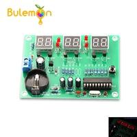AT89C2051 Kit d'horloge numérique électronique Suite d'affichage pièces de Module électronique et composants bricolage Kits DC 9 V-12 V