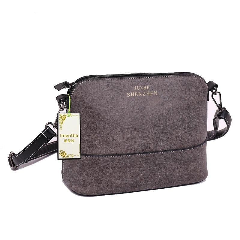 26x11 cm moda cinza mulheres Shoulder Leather Bag Casual Shoulder Bag : Retro Shoulder Bag Ladies Shoulder Bag Handbag Shoulder Big Bag