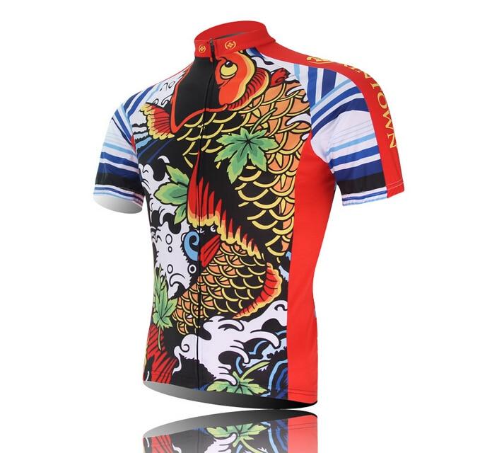 9fcd15e50 King Fish Man Cycling Jersey Bike Short Sleeve Sportswear Cycling Clothing