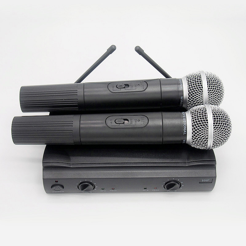 Finlemho Professional Microphone Wireless UHF Dynamic Vocal Karaoke Cordless Handled Mic PGX 58 For Home Studio