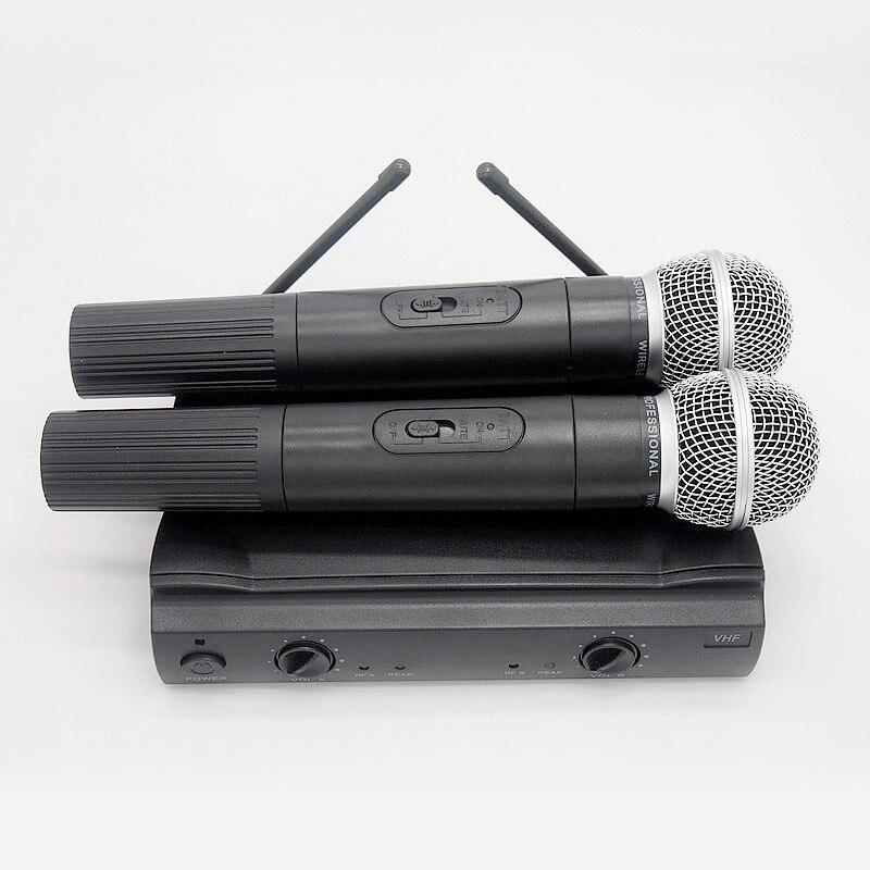 Finlemho Karaoke MICRÓFONO INALÁMBRICO VHF dinámico Inicio Estudio grabación inalámbrico manejado micrófono PGX-58 para DJ altavoz Conferencia