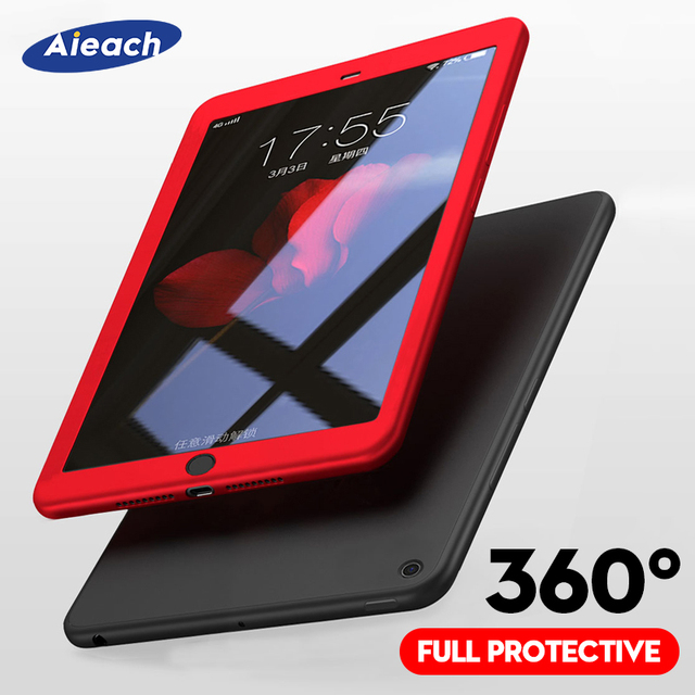 Silicone 360 Full Cover Case For iPad 10.2 2019 2018 9.7 2017 Case For iPad mini 4 5 Case For iPad Pro 10.5 Air 1 2 3 With Glass 1