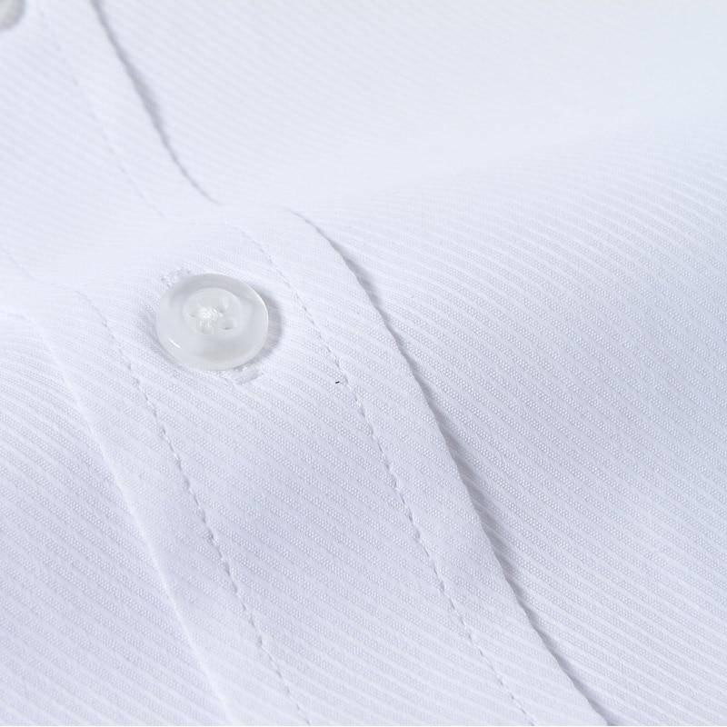 Mens Luxury Französisch Manschette Solid Dress Shirts Spread Kragen - Herrenbekleidung - Foto 5