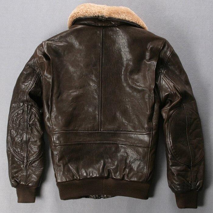 Avirex fly air force flight jacket bomber genuine leather jacket