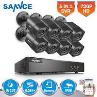 ANNKE 960H 8CH DVR 800TVL Outdoor Home Surveillance Security Camera System