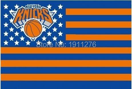 New York Knicks USA star stripe NBA Premium Team basketball Flag 3X5FT sports decorative digital printing free shipping