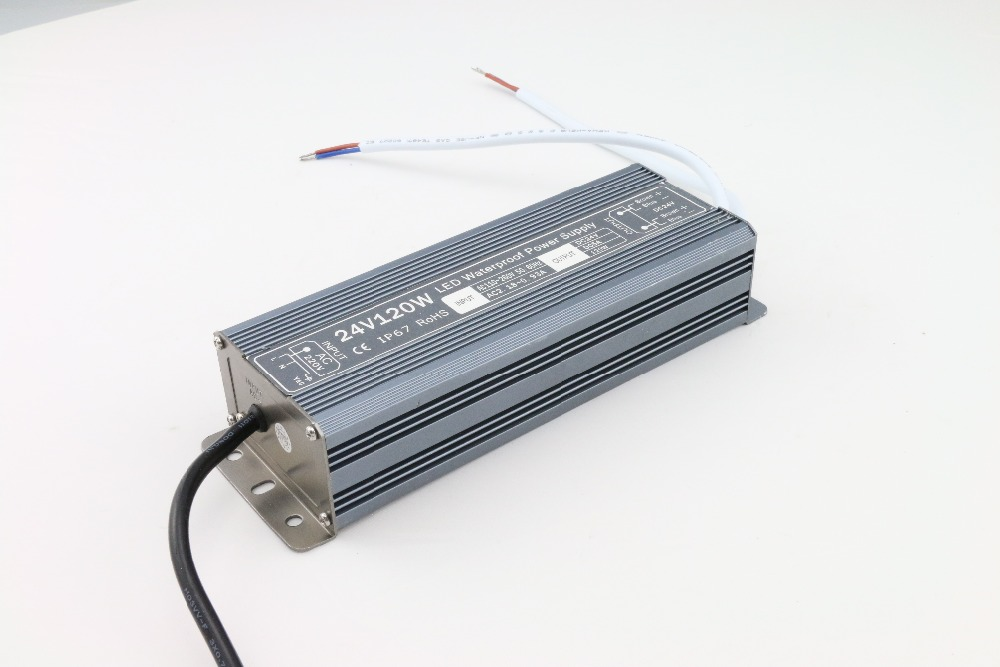 new new LED Strip Power Supply 110V 220V 264 V to 24 V 5 A LED Driver IP67 Waterproof Ultra Thin LED Light Transformer 120W