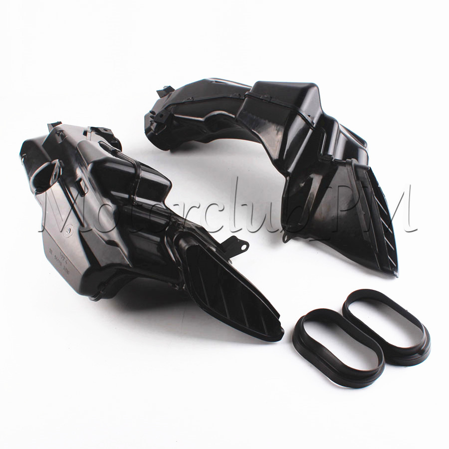Ram Air Intake Tube Duct Motorcycle Replacement For Suzuki GSXR600 GSXR750  2008 2009 2010 K8 ABS Plastic Black new motorcycle ram air intake tube duct for suzuki gsxr600 gsxr750 k11 2011 2012 abs plastic black