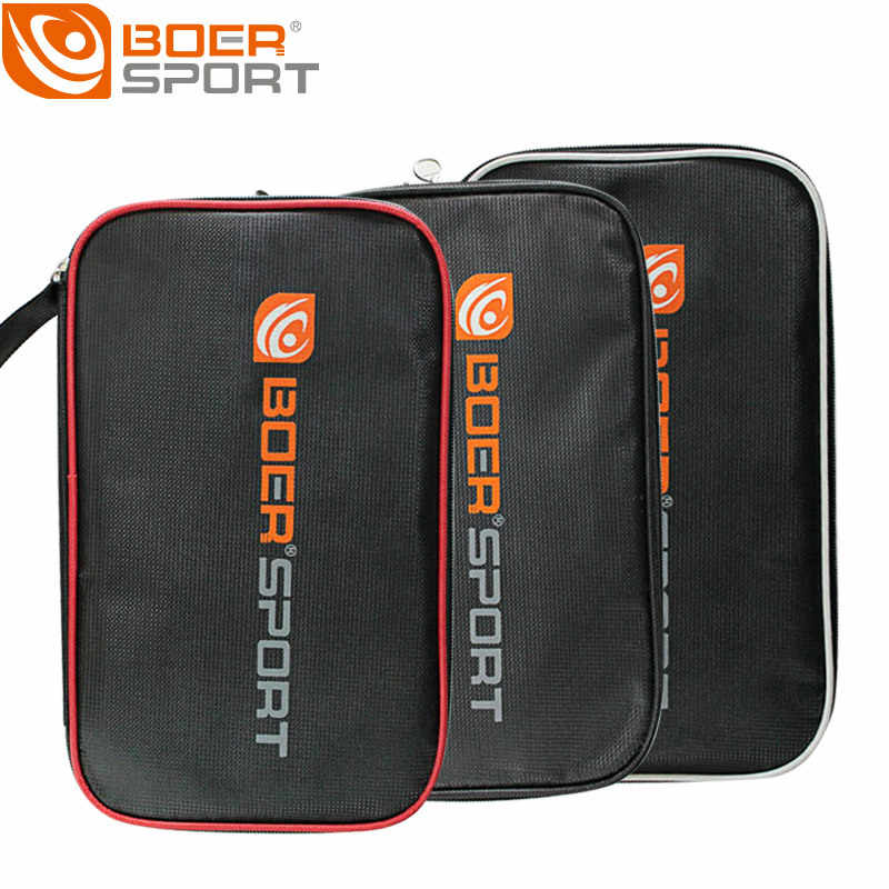 BOER Professional Rectangle Table Tennis Hard Case Oxford Waterproof Racket Bag Paddle Blade Package Accessories With Zipper