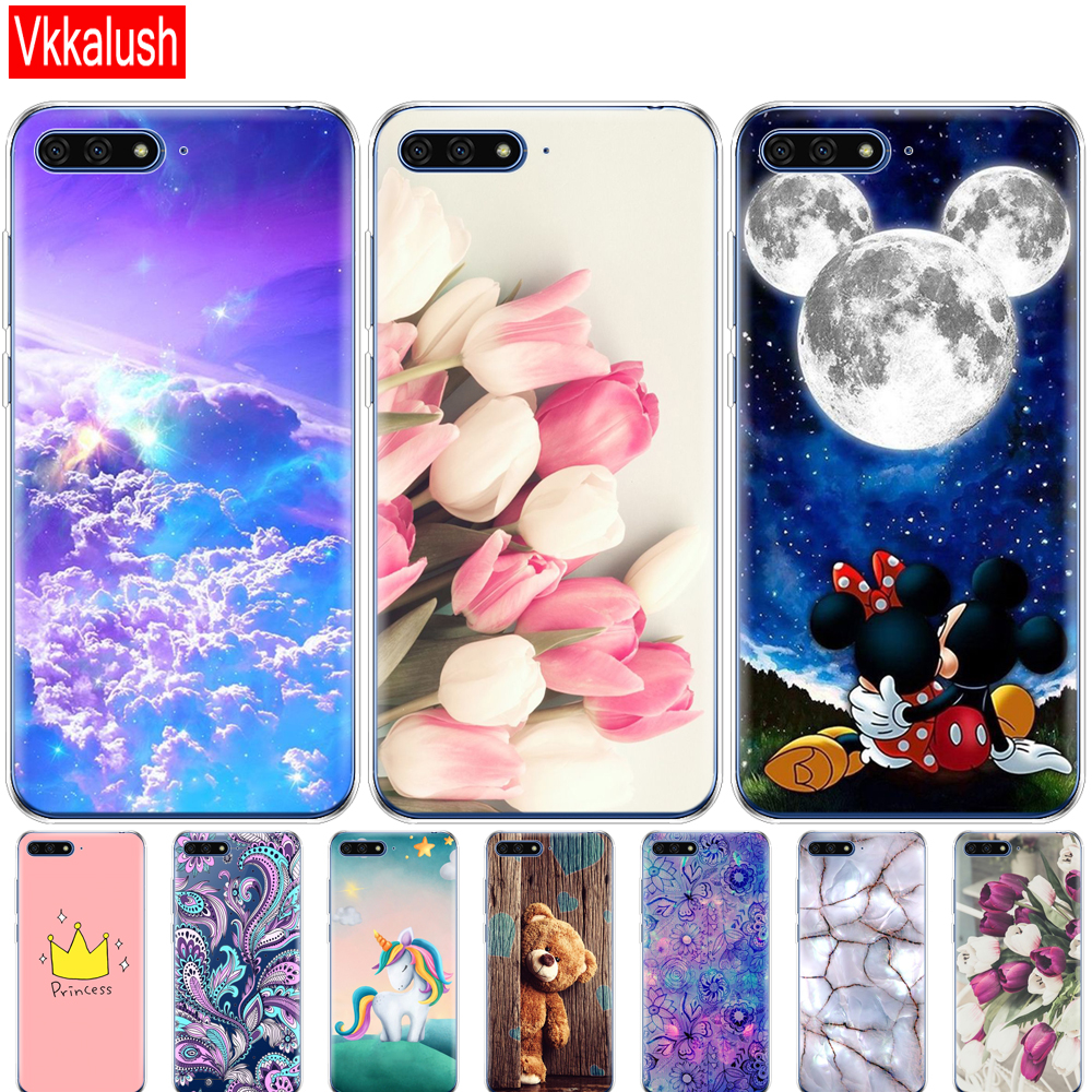 Silicon <font><b>Case</b></font> For <font><b>Huawei</b></font> Y6 <font><b>2018</b></font> <font><b>Case</b></font> 5.7 Inch Atu-L21 Cover For <font><b>Huawei</b></font> Y6 Prime <font><b>2018</b></font> Back Cover Protective Soft TPU image