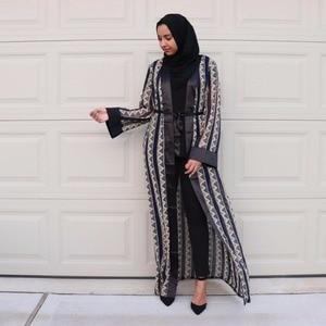 Women Muslim Dress Cardigan Long Abaya Dress Plus Size Islamic Dress Islamic Turkish Clothing for Women Robe Musulmane