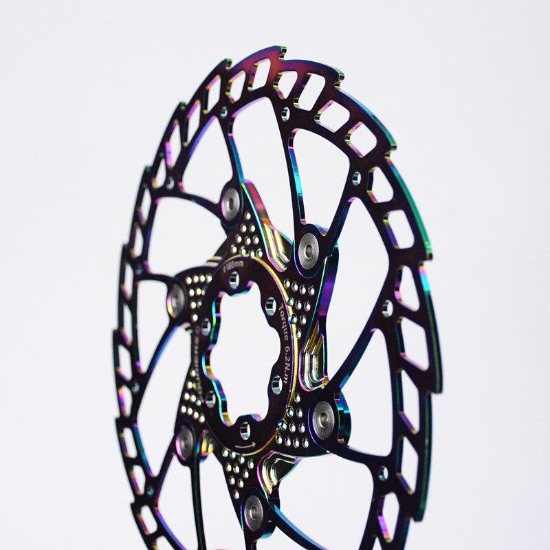 FOURIERS VTT VTT route vélo flottant rotor de frein à disque 140 160 180 203mm six trous disques - 2